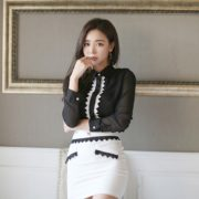 Park Da Hyun Model very cute with beautiful office dress - TruePic.net