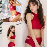 Cha Yoo Jin - Cherry shower bikini - Korean fashion - TruePic.net