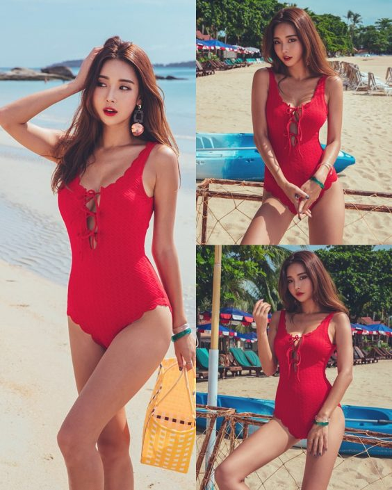 Park Da Hyun - The Red Swimsuit - 191218 - TruePic.net