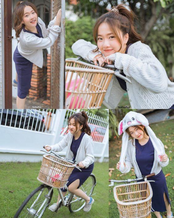 Thailand model - Kamonravee Korsampan (Aueyauey เอ๋ยเอ้ย) - How to drive a bike - TruePic.net