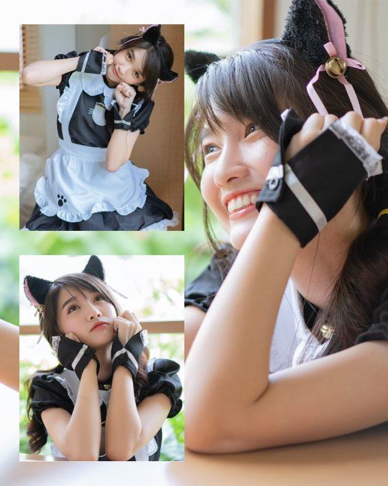 Thailand model - Yatawee Limsiripothong - The cute black cat - TruePic.net