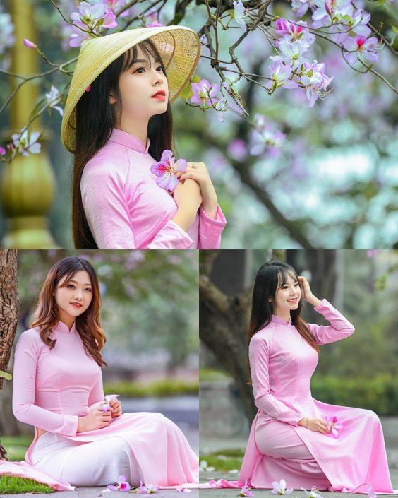 Dreamy purple of Ao Dai - Gentle and Soft of beautiful girls - Vietnamese traditional dress