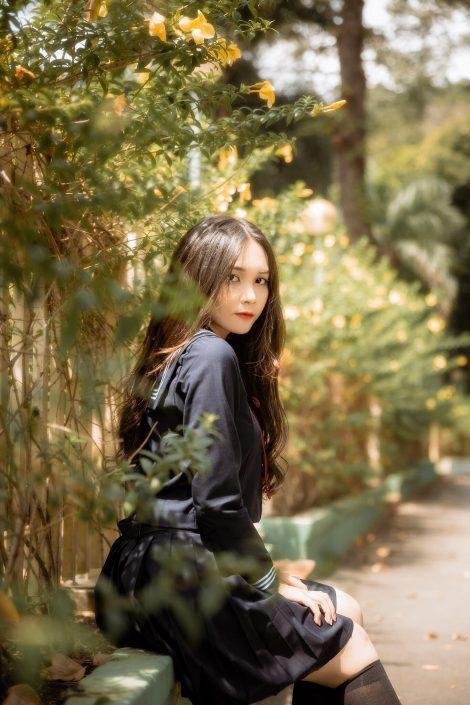 Gallery - Vietnamese cute model - Nguyen Yen Nhi - Cosplay Japanese School Girl Student (2)