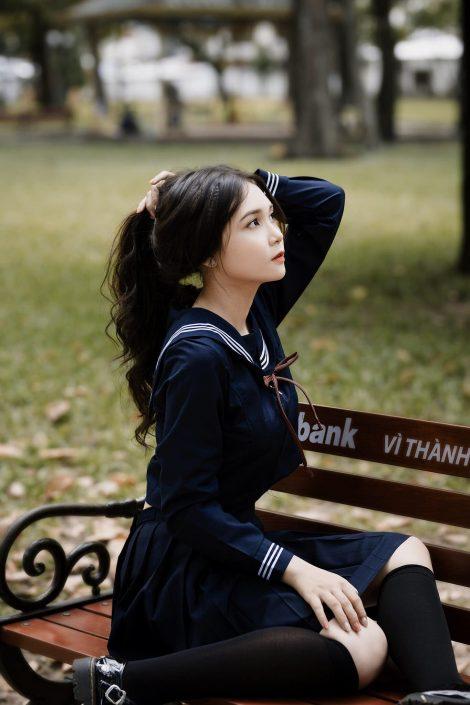 Gallery - Vietnamese cute model - Nguyen Yen Nhi - Cosplay Japanese School Girl Student (5)