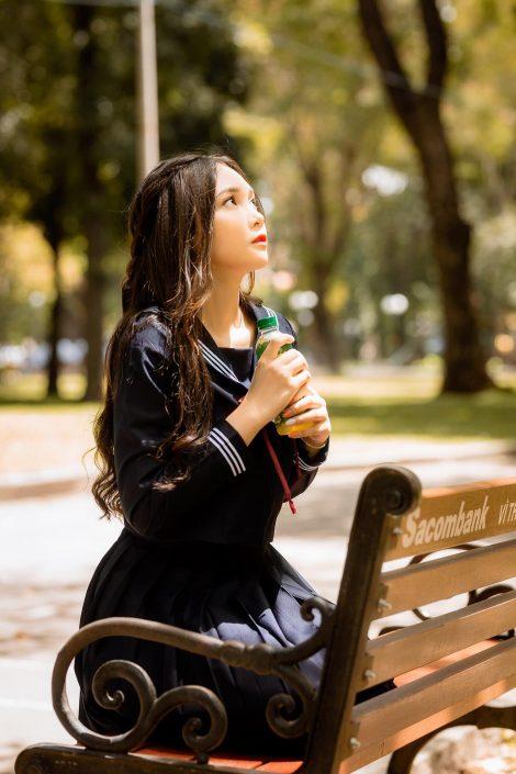 Gallery - Vietnamese cute model - Nguyen Yen Nhi - Cosplay Japanese School Girl Student (7)