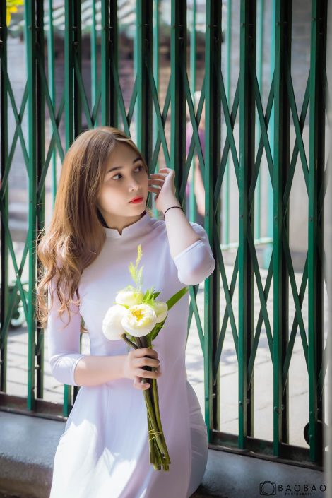 Gallery - Vietnamese model - Nguyen Yen Nhi model - Ao Dai - Vietnamese traditional dress (1)