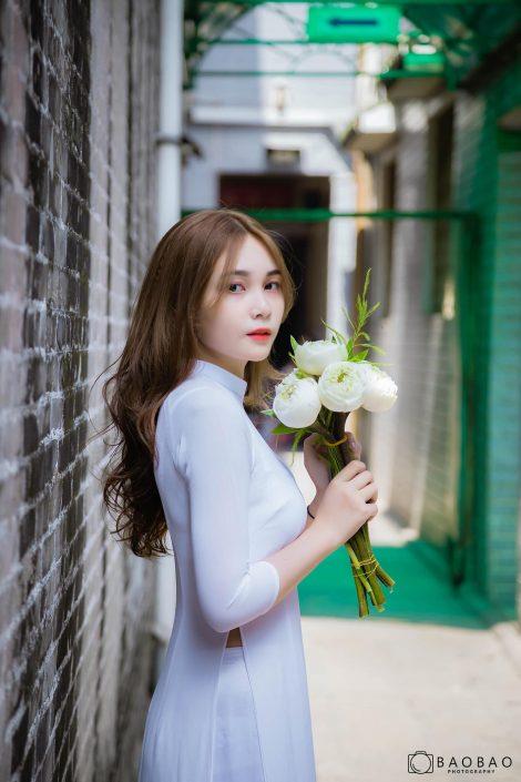Gallery - Vietnamese model - Nguyen Yen Nhi model - Ao Dai - Vietnamese traditional dress (3)