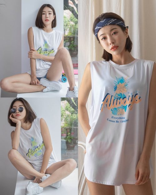 Korean model and fashion - An Seo Rin - Summer personality clothing for young girls