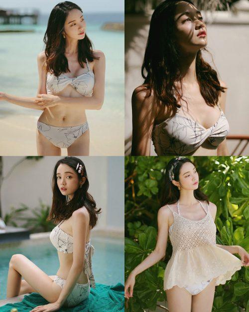 Korean model and fashion - Jeong Hee - The flower in your bikini