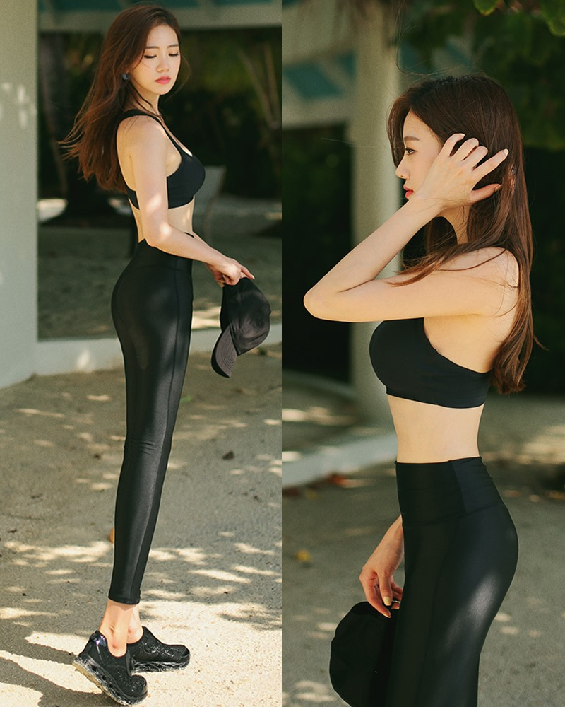 Korean model and fashion - Lee Hyunjung - Untied seamless bra top