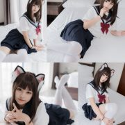 [MTCos] 喵糖映画 Vol.002 - Chinese model - Cosplay Japanese School Girl Student with Cat Hairband
