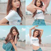 Thailan cute model - Supansa Yoopradit (Lorpor) - The terrace is full of windy afternoon