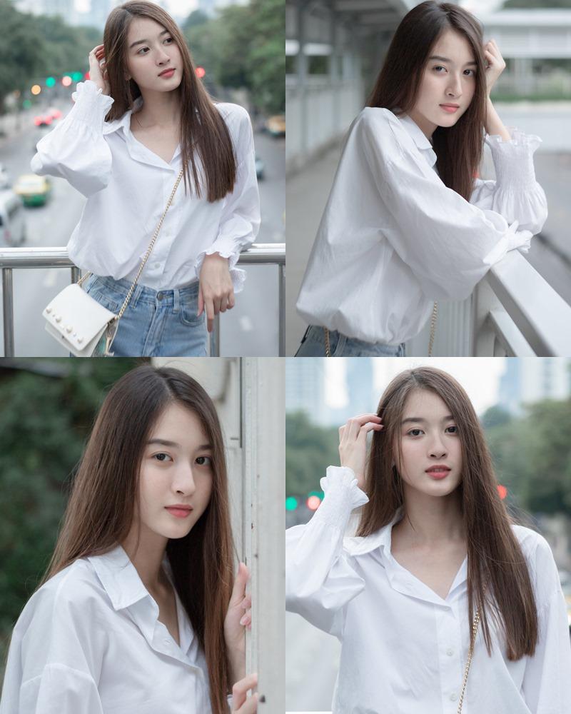 Thailand beaufiful model - View Benyapa - Young charming girl with long hair