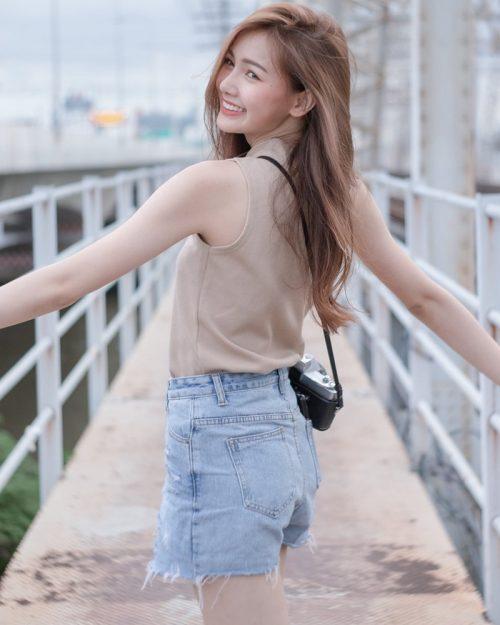 Thailand beautiful model - Pla Kewalin Udomaksorn - A beautiful morning with a cute girl