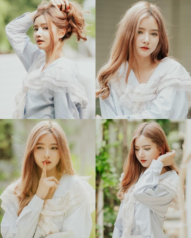 Thailand cute model - Aintoaon Nantawong - Pretty little Brunette girl smiling