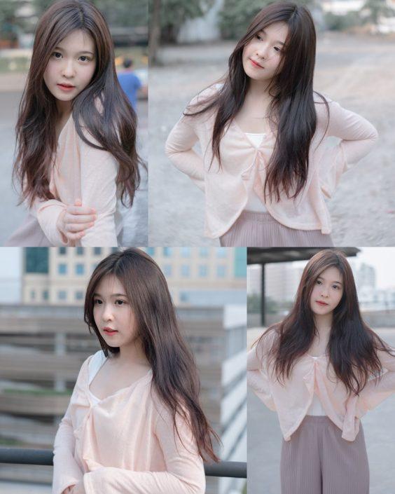 Thailand cute model Jelly Namjai (เจลลี่) - Beautiful angel in the city
