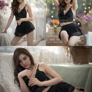 Thailand model - Jarunan Tavepanya - Charming black rose for Valentine day - TruePic.net
