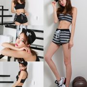 An Seo Rin - Short Shorts Fitness set - Korean model and fashion
