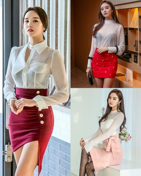Korean Fashion Model - Chloe Kim - Indoor Photoshoot Collection - TruePic.net