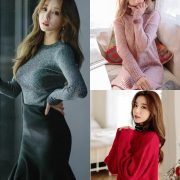 Korean Fashion Model - Kim Jung Yeon - Winter Sweater Collection - TruePic.net