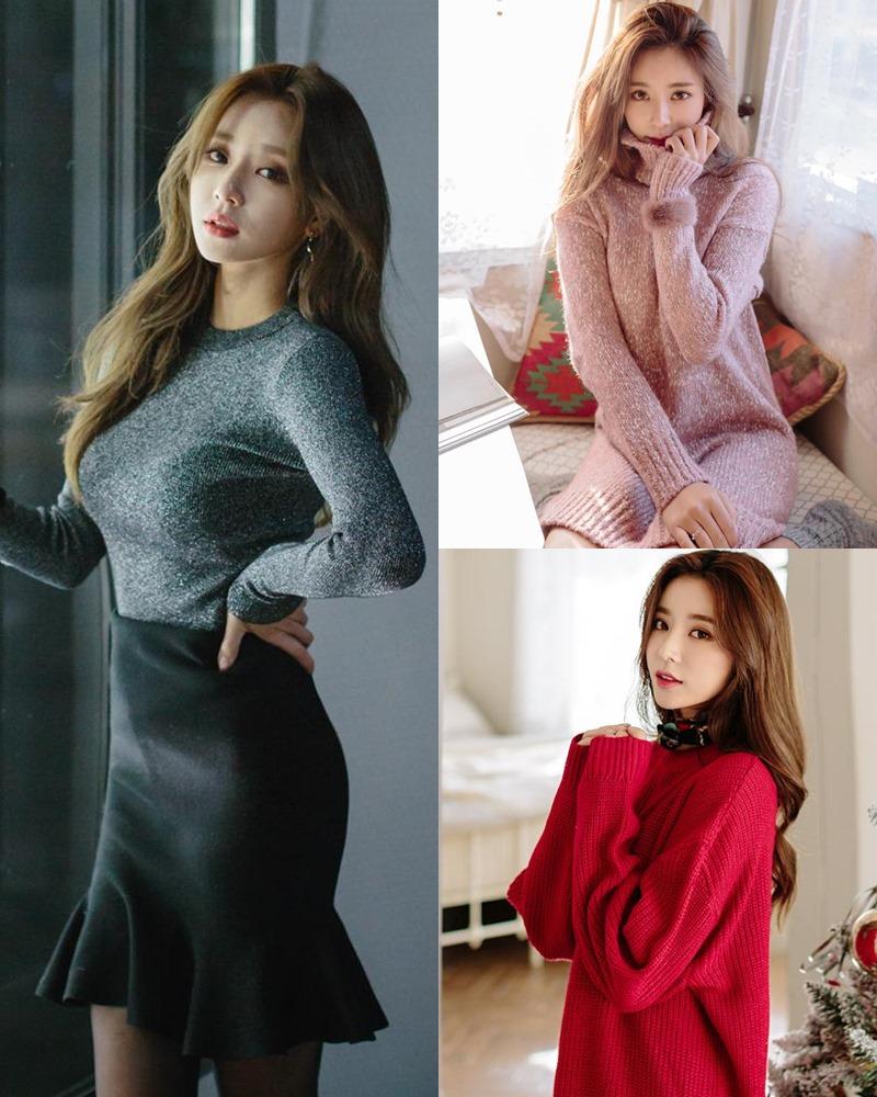 Korean Fashion Model - Kim Jung Yeon - Winter Sweater Collection - TruePic.net