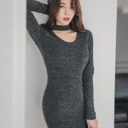 Korean fashion model - An Seo Rin - Woolen office dress collection - TruePic.net