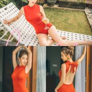 Korean fashion model - Lee Chae Eun - Toyou Swimsuit - TruePic.net
