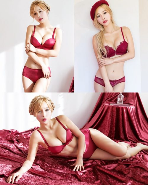 Korean fashion model - Lee Ji Na - The Push Up Lingerie - TruePic.net