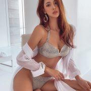 Korean lingerie queen - Park Da Hyun - Chloe python Bikini
