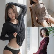 Korean model and fashion - An Seo Rin - Swimwear studio photoshoot