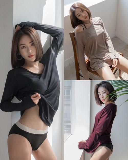 Korean model and fashion - An Seo Rin - Swimwear studio photoshoot