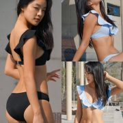 Korean model and fashion - Choi Seok Yeong - Alice Black and Blue Bikini