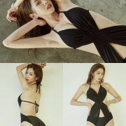 Korean model and fashion - Lee Chae Eun - Monokini for summer vacation