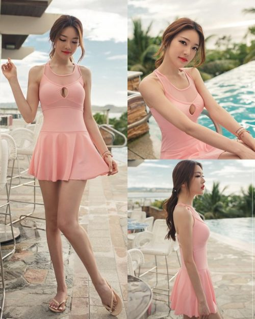 Korean model fashion - Park Jeong Yoon - Amanda One Piece Swimsuit
