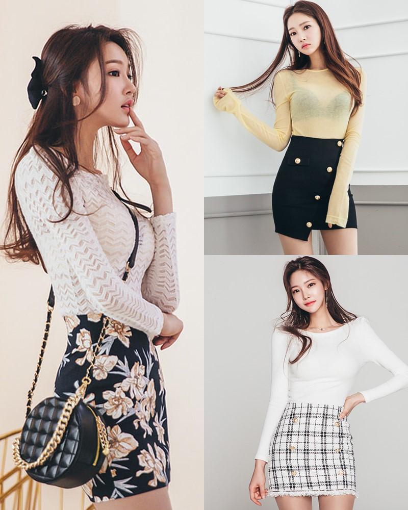 Park Jung Yoon - Korean Fashion Model - Casual Indoor Photoshoot - TruePic.net