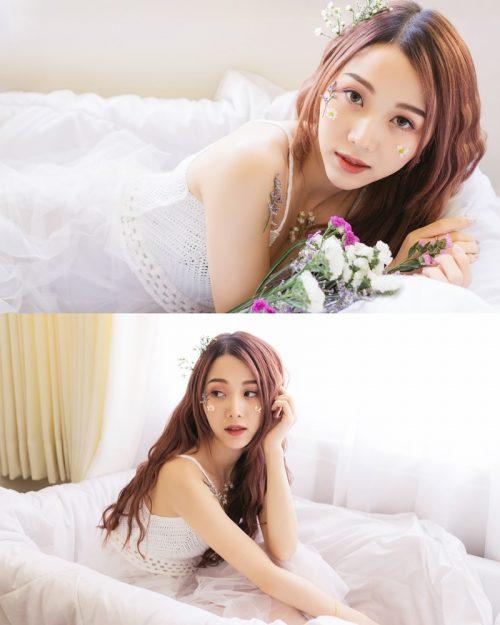 Thailand beautiful model Popor Saechur with photo album Little Princess