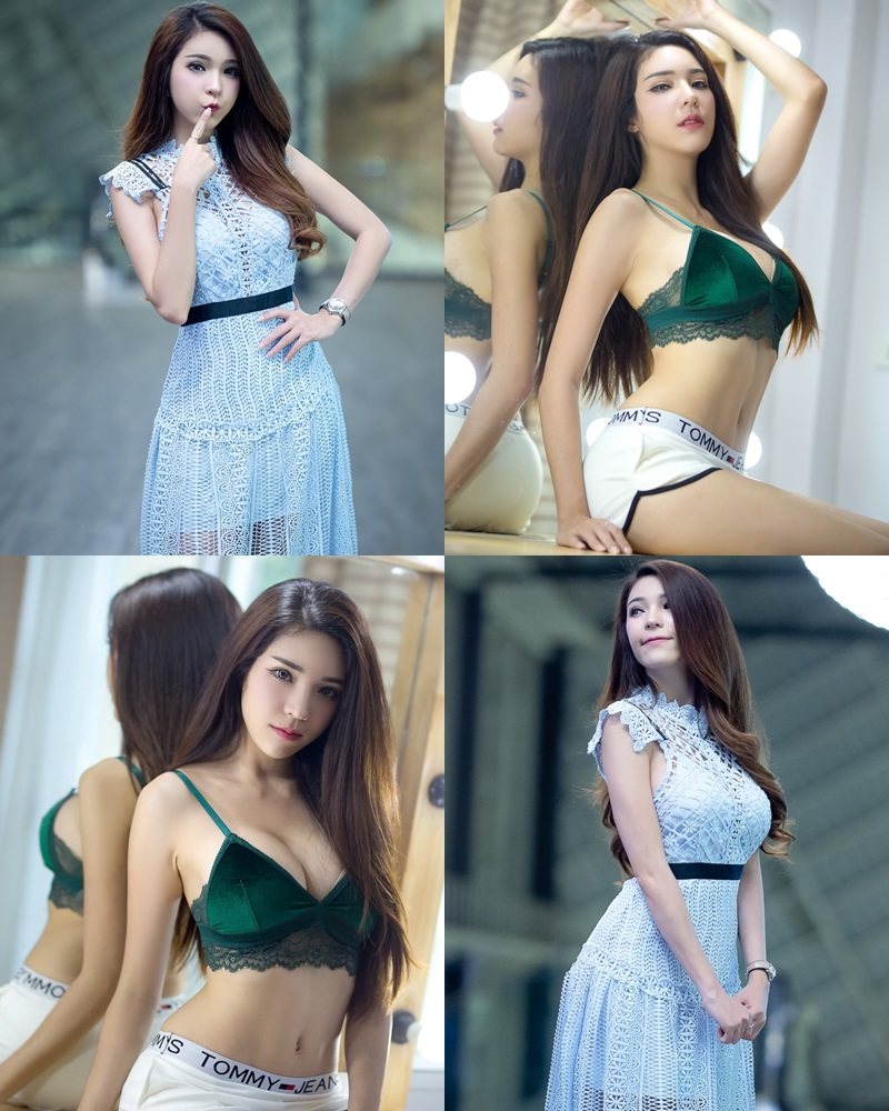 Thailand hot model – Janet Kanokwan Saesim – Sexy vs Cute and Bra vs Long Dress