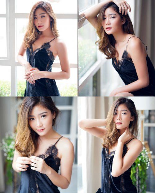 Thailand hot model Pattaravadee Boonmeesup vs Photo album Black Magic Sleepwear
