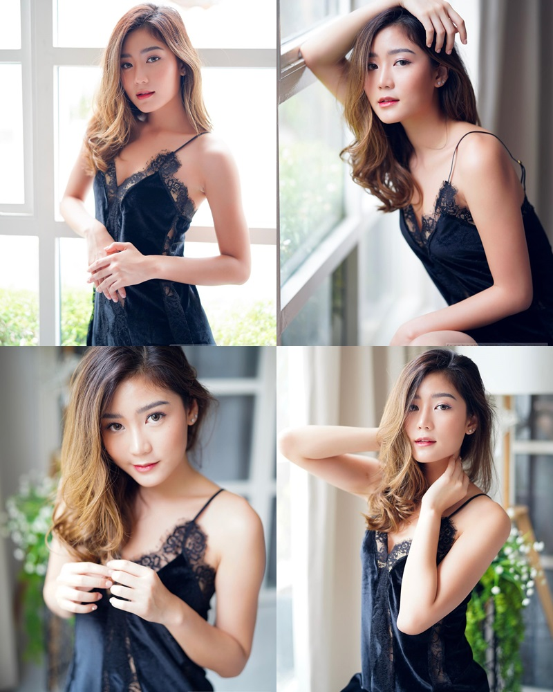 Thailand hot model Pattaravadee Boonmeesup vs Photo album Black Magic Sleepwear