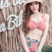 Thailand model - I'nam Arissara Chaidech - Pink Bikini on the beach - TruePic.net