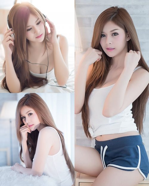 Thailand model Kanyakarn Kaewnisai - Getting up early welcome the Sun