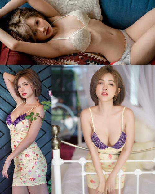 Thailand sexy model - Sutasinee Siriruke - Sleepwear and Lingerie Set - TruePic.net