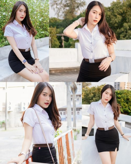 Thailand young model Lin Lee Hong with photo album Lovely Student