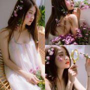 Vietnamese beautiful model Vu Thanh Huong - Fairies purple chrysanthemum
