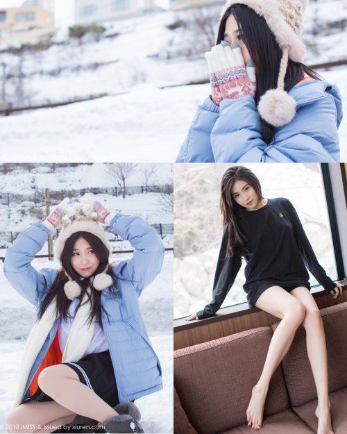 Image-IMISS-Vol.262-Sabrina model–Xu-Nuo-许诺-Sparkling-White-Snow-TruePic.net