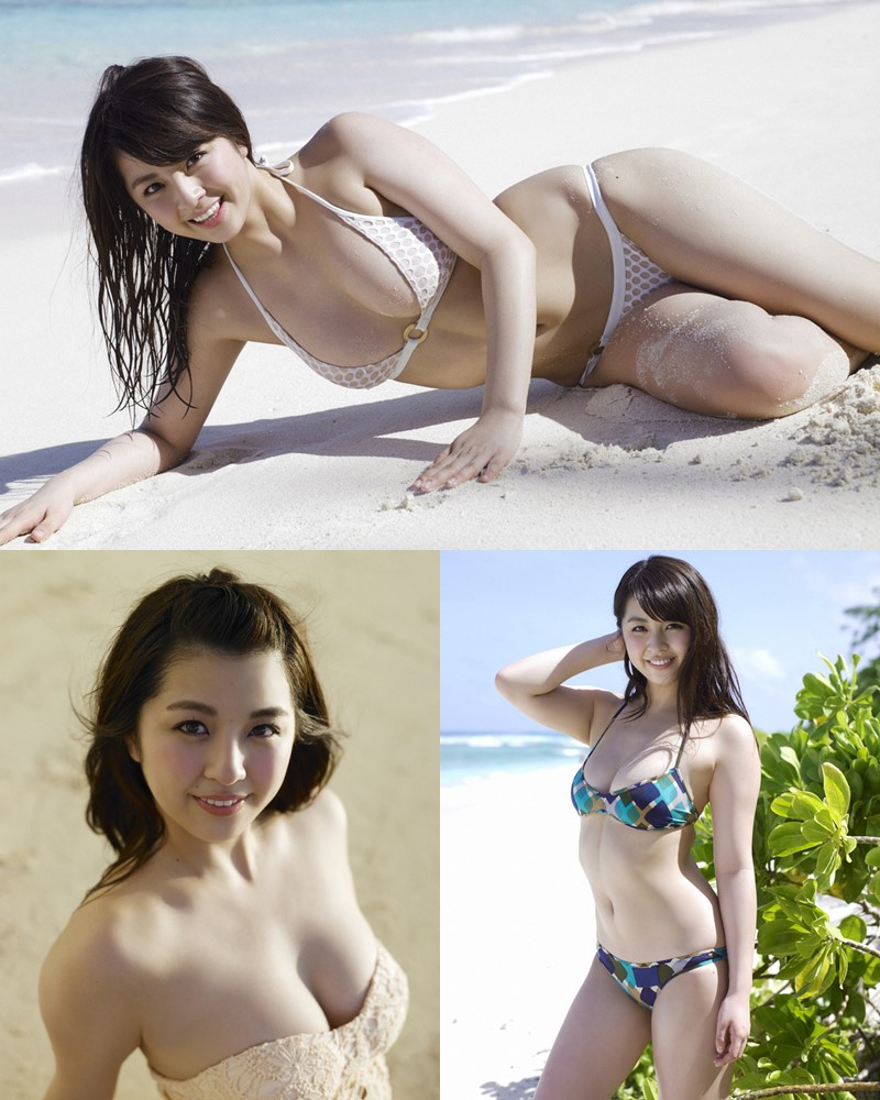 Image-Japanese-Actress-And-Model-Yurina-Yanagi-Blue-Sea-And-Hot-Bikini-Girl-TruePic.net