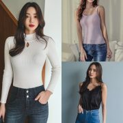 Image-Korean-Fashion-Model-Kim-Bo-Ram-Jeans-Set-Collection-TruePic.net
