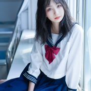 Image [MTCos] 喵糖映画 Vol.014 – Chinese Cute Model With Japanese School Uniform - TruePic.net