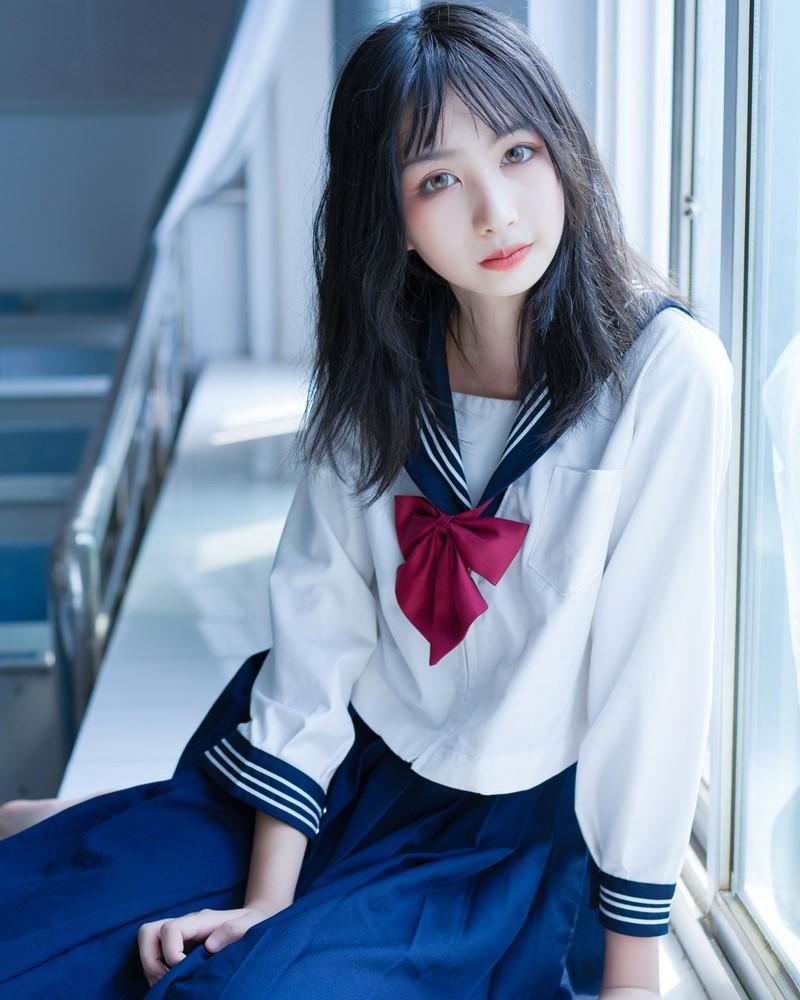 Image [MTCos] 喵糖映画 Vol.014 – Chinese Cute Model With Japanese School Uniform - TruePic.net