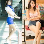 Image-Taiwan-Social-Celebrity-Sun-Hui-Tong-Stewardess-High-speed-Railway-TruePic.net